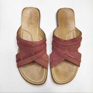 TIMBERLAND Leather Slide on Sandals